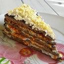 Печёночный тортик для праздничного стола