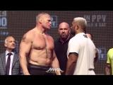 UFC 200 Weigh-Ins Brock Lesnar vs. Mark Hunt Staredown