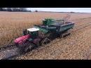 Сложности уборки урожая, трактора и комбайны в грязи