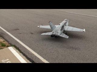 F-18 Turbine rc at Ft Bend RC Club 2-26-12