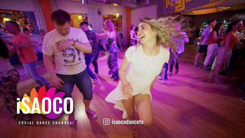 Ilya Kronberg and Tatyana Rakhmetulova Salsa Dancing in Respublica Vosmera, Saturday 28.04.2018