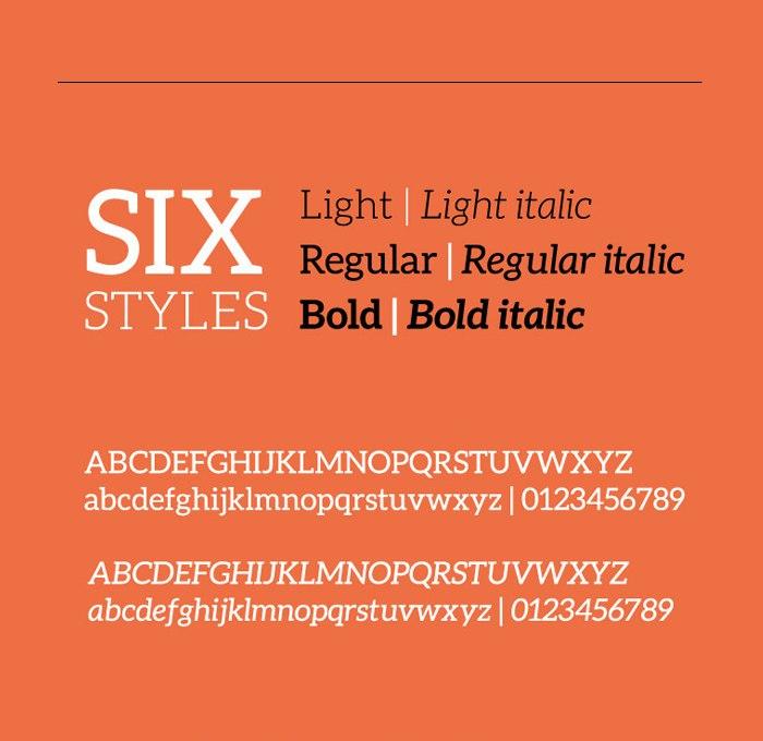 шрифт Aleo font v1.2.2