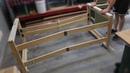 Foldable workbench Massive space minimal footprint