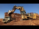 Cat 6040 Excavator Loading Dumpers And Operator View