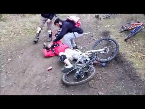 Самые жестокие падения во фрирайде и даунхилле - best crash mtb freeride and downhill