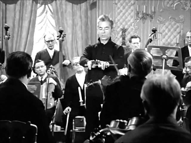 1965 Mozart, Clouzot, Karajan, Menuhin K219 Adagio répétition