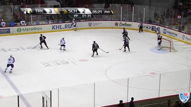 Моменты из матчей КХЛ сезона 14/15 • Гол. 3:3. Пайгин Зият (ХК Сочи) сравнивает счет матча в большинстве 29.10