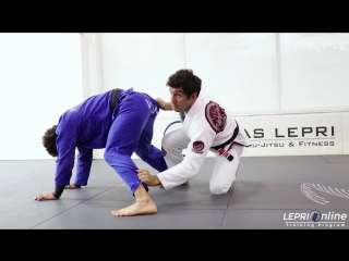 Lukas Lepri - Guard Pull to Armbar Attempt to Ouchi Gari from the Back to Back Take