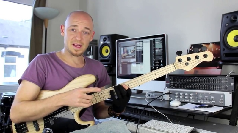 Техника правой руки для баса (переменный штрих и рэйк) - урок бас гитара