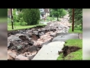 Video of flash flooding in northern Michigan