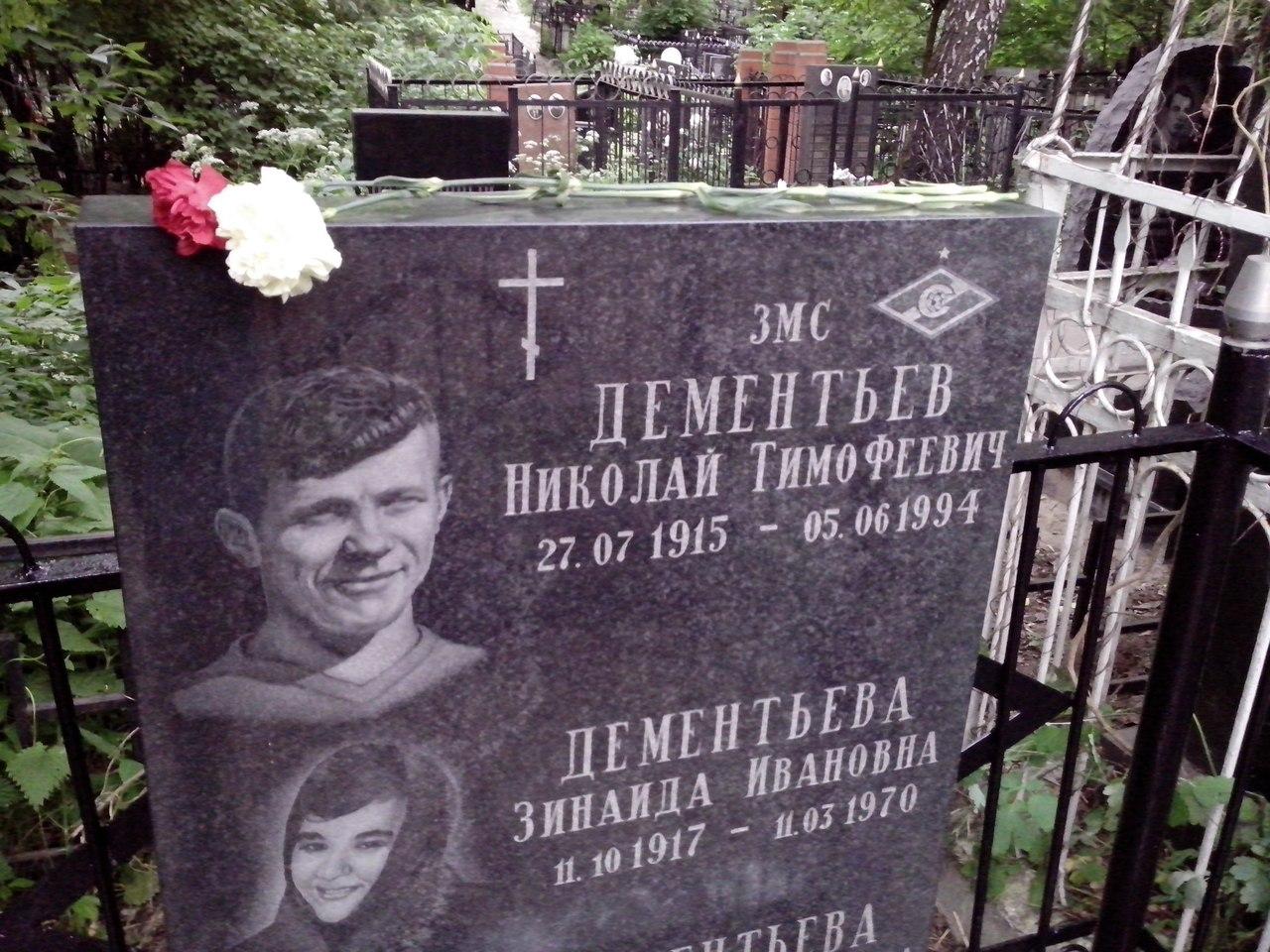 Могила Николая Дементьева