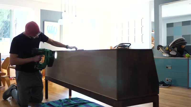 How to Make a TV Stand _ Record Player Console _ Woodworking
