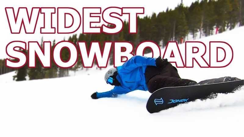 Attempting to Carve the Worlds Widest Snowboard feat. Ryan Knapton