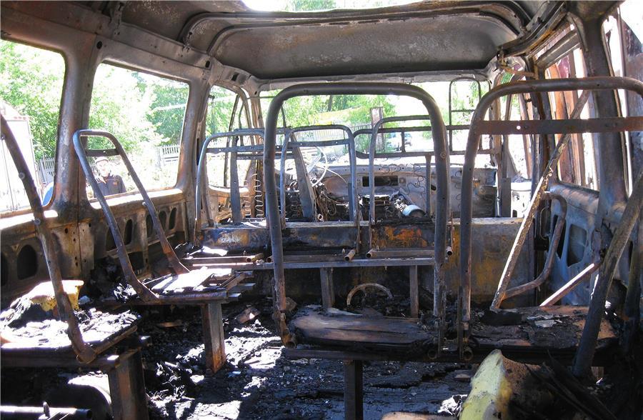 Грузопассажирская «Газель» сгорела в Архызе