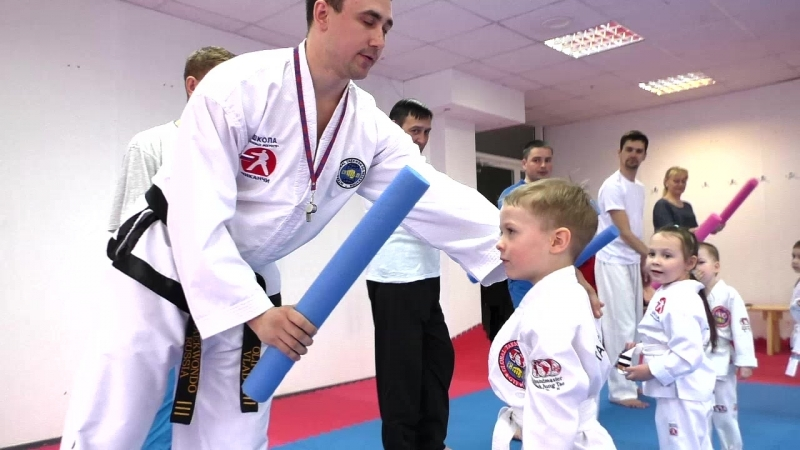 Тхэквондо для малышей в Школе боевых искусств Анатолия Чиканчи