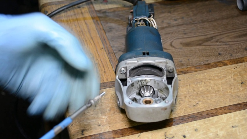 Замена конической пары болгарка Bosch GWS 780C