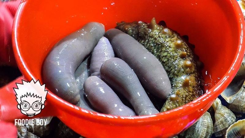 Assorted Seafood Sashimi / Korean Street Food / Noryangjin Fisheries Wholesale Market, Seoul Korea