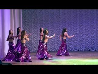 """Младший состав школы танца """"файза"""", group belly dance, modern oriental style."""