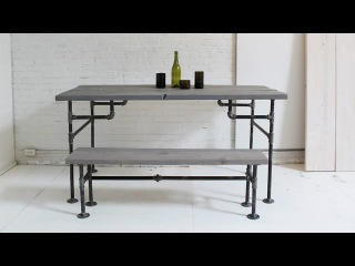 HomeMade Modern, Episode 3 – DIY Wood + Iron Table