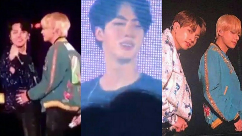 BTS concert in Japan (JIN CRIED) at Tokyo Dome (Love Yourself Tour day 1)