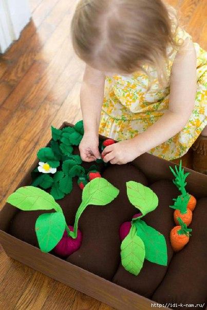 Фетровая грядка для детей (9 фото)