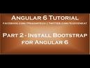 Install Bootstrap for Angular 6