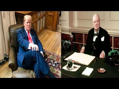 Trump Sat In Winston Churchill's Armchair, Didn't Expect What Happened Immediately After
