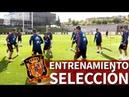 Entrenamiento de la Selección Española a puerta cerrada antes de viajar a Gales Diario AS