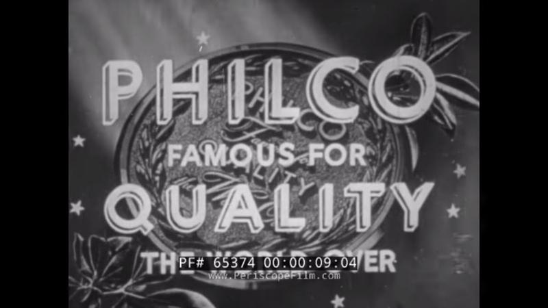 PHILCO BRAND REFRIGERATOR PROMOTIONAL FILM QUALITY THE WORLD OVER 1950s APPLIANCES 65374