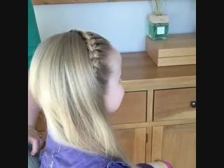одна из самых любимых причесок для девочки.