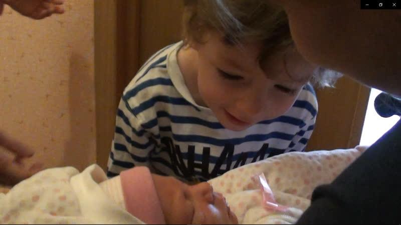 Первая встреча Давида со своей сестричкой