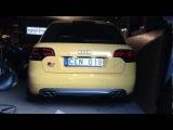 Audi S4 b7 with Dectane smoked tail light vs stock 35% tint