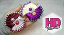 DIY - HANDMADE SATIN RIBBON FLOWER    Cara Membuat Bros    Tutorial Simple Kanzashi