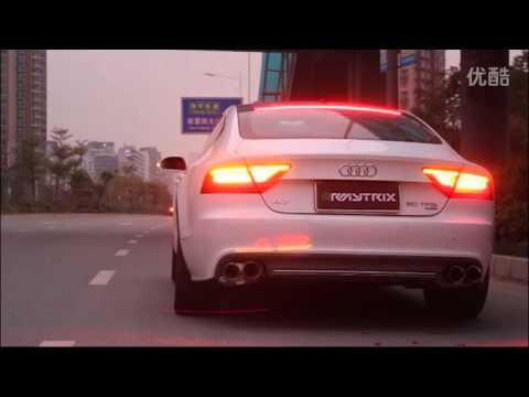 Audi A7 (C7) SCREMS w/ ARMYTRIX Cat-Back Valvetronic Exhaust by AMS China