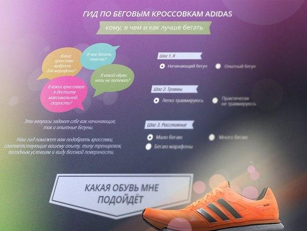 Посмотрите что предлагает для бега сегодня adidas на сделанном нами интерактивном проекте. Все эти кроссовки можно купить в России и Украине.