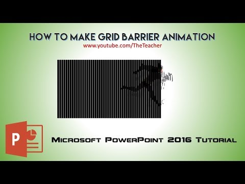 How to Make Grid Barrier Animation in PowerPoint 2016 | The Teacher