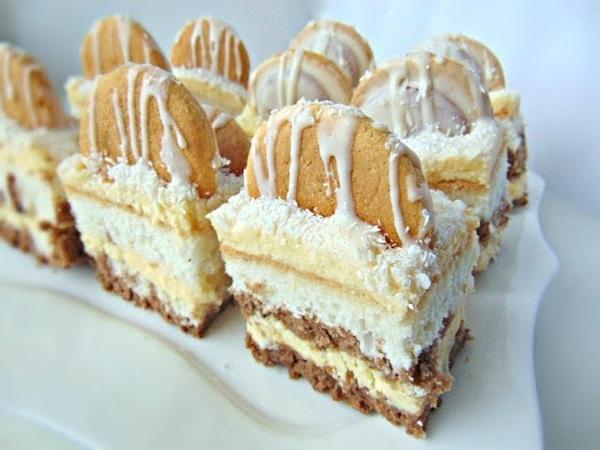 Пляцок (торт) Айсберг с творожно- сливочной массой - рецепти Лілії Цвіт