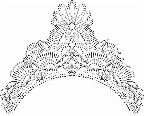корона связанная крючком.