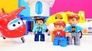 Çocuk oyunları Harika kanatlar Türkçe izle Lego oyuncakları havalimanı yapıyoruz