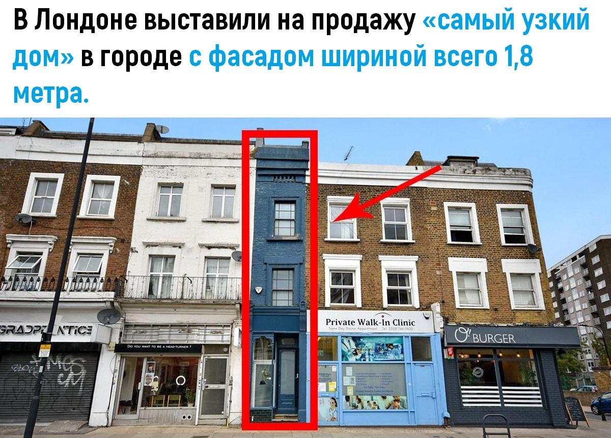Caмый yзкий дом в Лондоне выставили на продажу