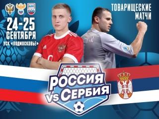 Товарищеский матч. Россия - Сербия. 1 матч. Обзор первого тайма (3:1).