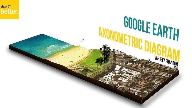 Google Earth Architecture Diagram Arch Viz Photoshop Only (reupload)