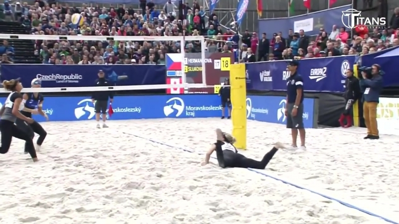 Beach Volleyball Actions 2018. DIGS SAVES. Womens Volleyball.