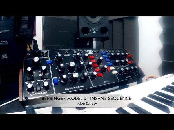 Behringer Model D - INSANE SEQUENCE!