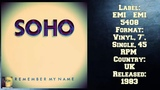 Soho - Remember My Name (1983 New Wave Collection )