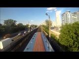 Поездка на крыше поезда метро