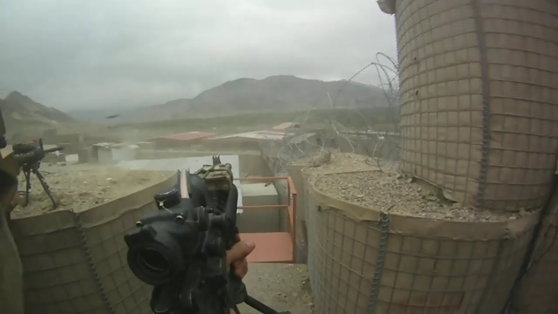US Army Helmet Cam Of Heavy Firefight With A-10 Support During Taliban FOB Attack In Afghanistan