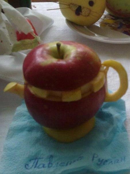 Поделки из яблок машинки 44