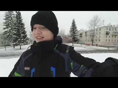 крутая набережная/ пруд /гуляем по первому снегу