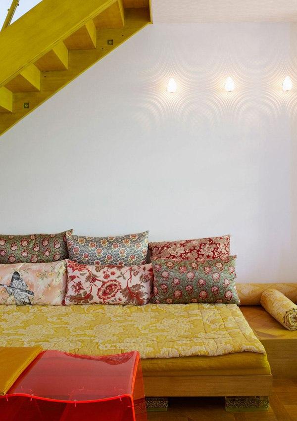 проект необычного интерьера дома от дизайнера Annabel Karim Kassar